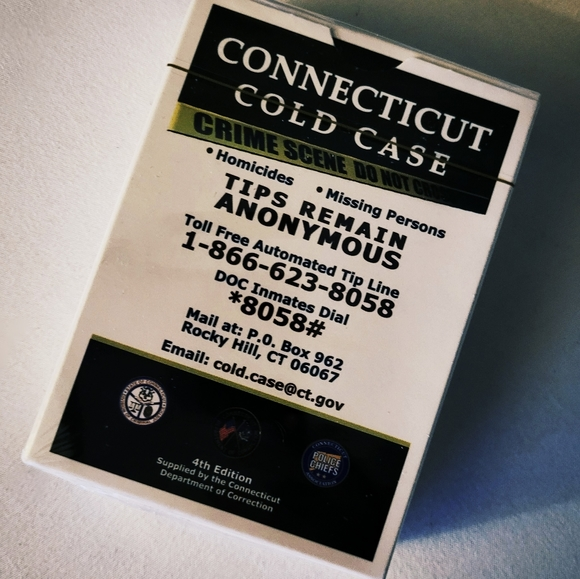NEW & SEALED Cold Case Playing Cards (Connecticut)